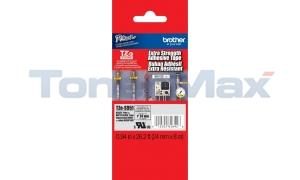 BROTHER TZ EXTRA STRENGTH ADHESIVE BLACK ON MATTE SILVER 24 MM X 8 M (TZE-S951)