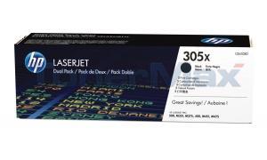 HP NO 305X PRINT CART BLACK HY DUAL PACK (CE410XD)