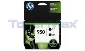 HP 950 INK CARTRIDGE BLACK 2PACK (L0S28AN#140)